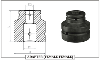 ADAPTER ( FEMALE- FEMALE)