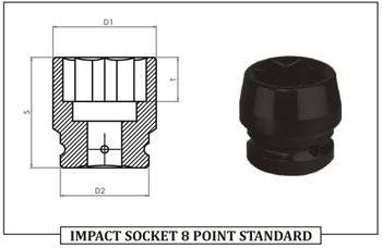 IMPACT SOCKET 8 POINT STANDARD