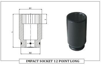 Impact Socket 12 Point Long