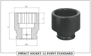 Impact Socket 12 Point Standard