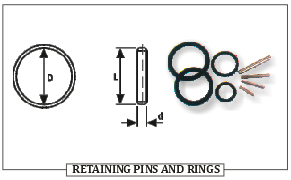 RETAINING PINS AND RINGS